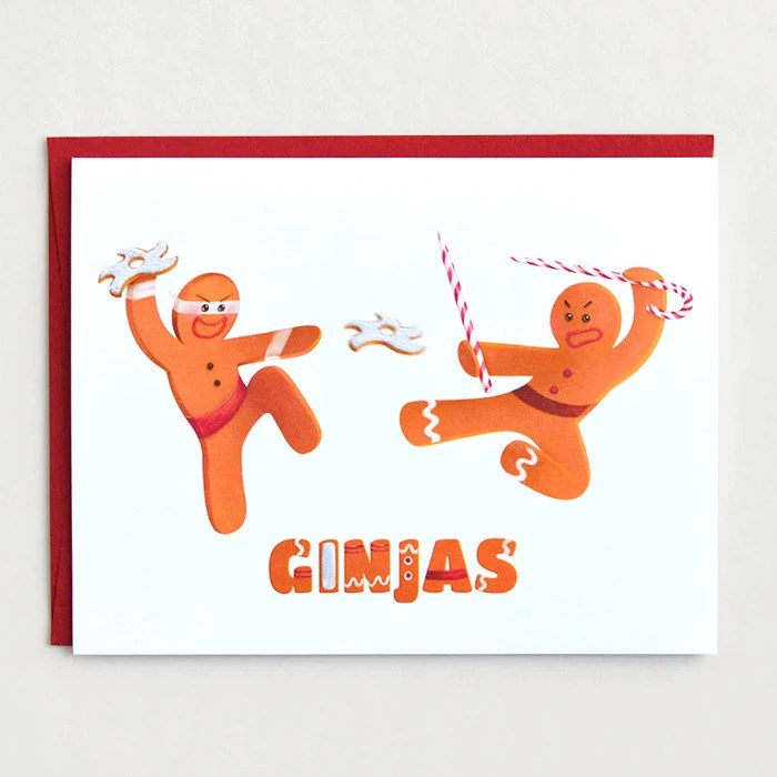 Funny Christmas Card Ginjas Funny Holiday Card