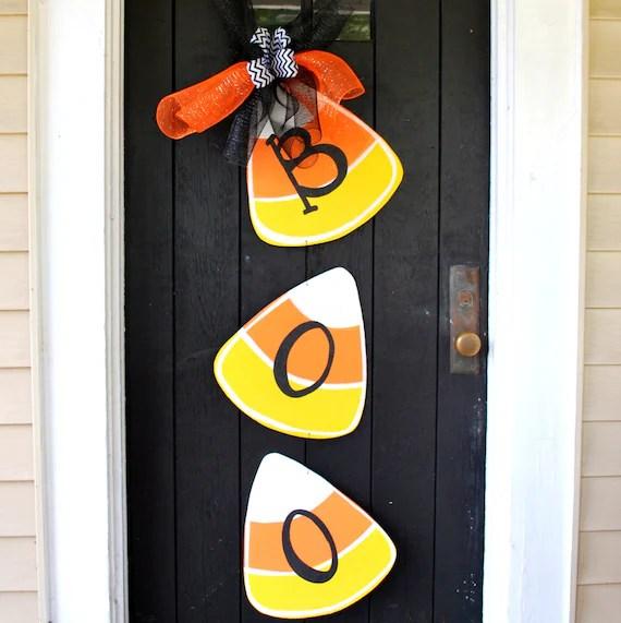 Halloween Wreath Door Hanger: Halloween Candy Corn Door
