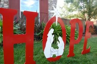 Hope With Nativity Scene Outdoor Christmas Holiday Yard Art