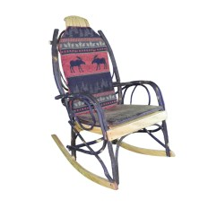Amish Made Rocking Chair Cushions Retro Kitchen Table And Chairs Canada Bentwood Rocker Cushion Set Double Sided Red Moose