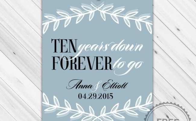 Ten Year Anniversary Gift For Her Or For Him By