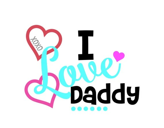 Download I Love Daddy SVG DXF EPS Cut file. by BetterCrafts on Etsy
