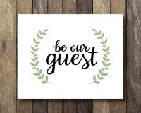 Be Our Guest Guest Room Wall Art Instant Download Guest