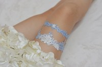blue bridal garter set wedding garter setrhinestone bride