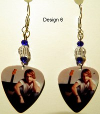 KEITH URBAN 5-7 Guitar Pick Beaded Earrings by ...