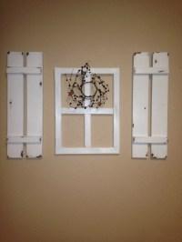 shutter wall decor - 28 images - galvanized shutters wall ...