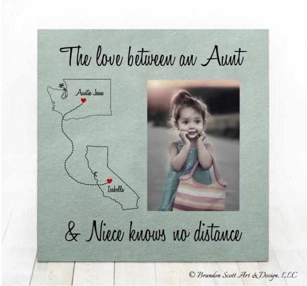 Long Distance Aunt Niece States Frame Nephew