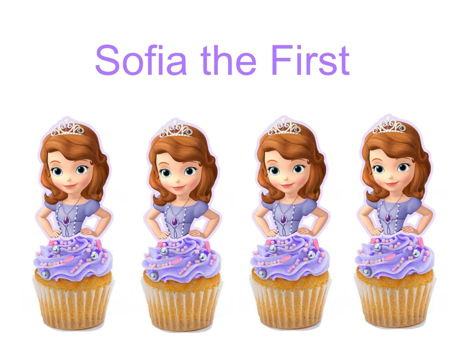 Sofia The First Cupcake Toppers Cakepop Toppers By Iamsoxhy