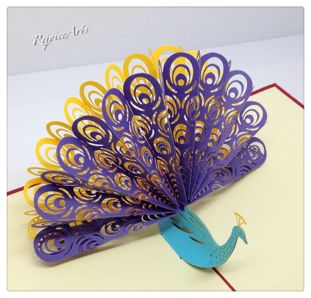 3D Pop Up Peacock Card