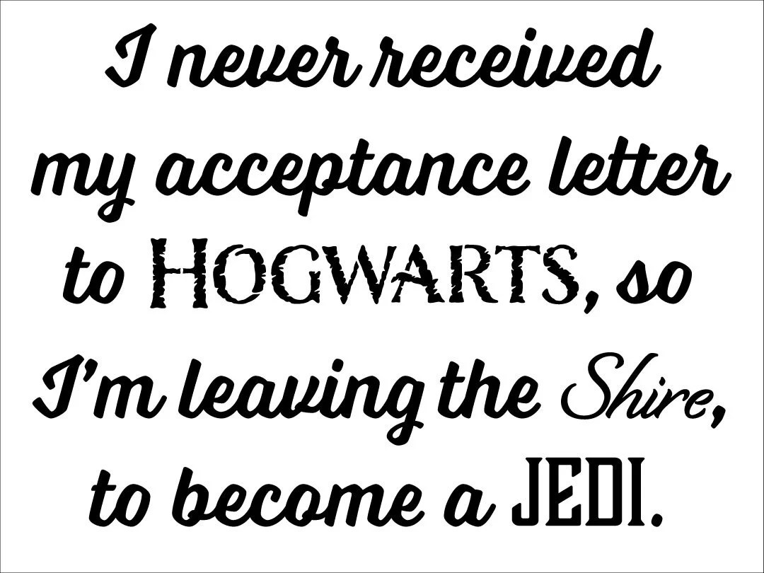 I never received my acceptance letter to Hogwarts Instant