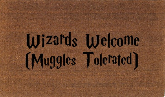 Wizards Welcome Muggles Tolerated Harry Potter Door Mat - 30+ Harry Potter Gift Ideas for the Harry Potter Lover in your life. This gift guide includes clothing, home decor, food and anything else Harry Potter!