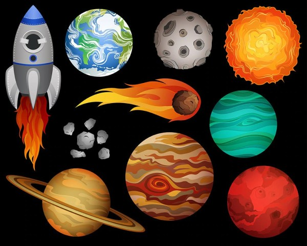 Outer Space Clip Art Set Of 10 X-large 300 Dpi Vector