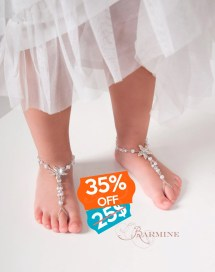 Flower Girl Barefoot Sandals Beach Wedding Starfish