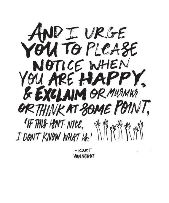 Kurt Vonnegut Quote // Original Artwork // Digital Print