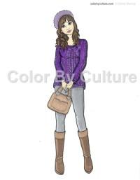 Fall Coloring Book Fashion Coloring Book Printable