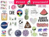 Set 125. Mockup printable Tumblr Stickers Stickers Set of