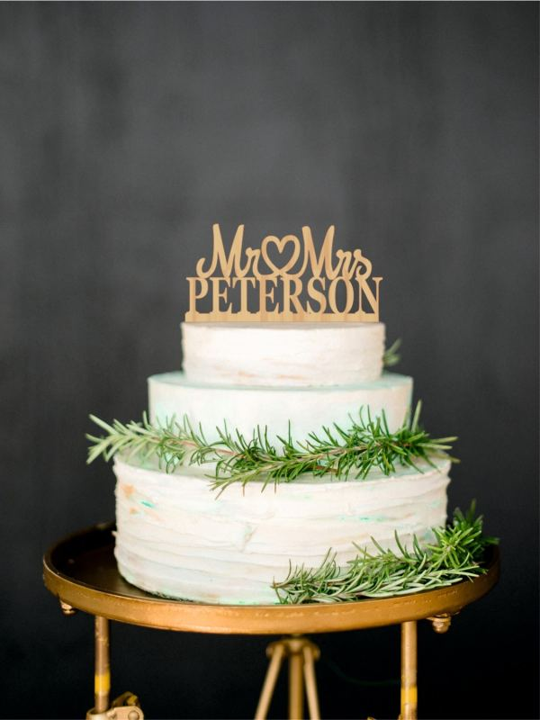Topper Personalized Wood Cake Custom Wedding