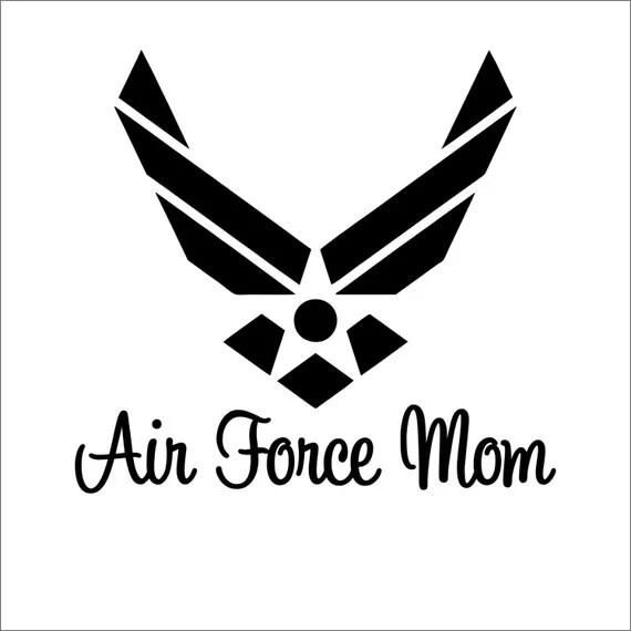 Air Force Mom Vinyl Sticker Decal