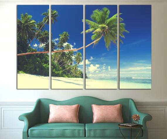 Tropical Beach Wall Art Canvas Summer Beach Canvas Print
