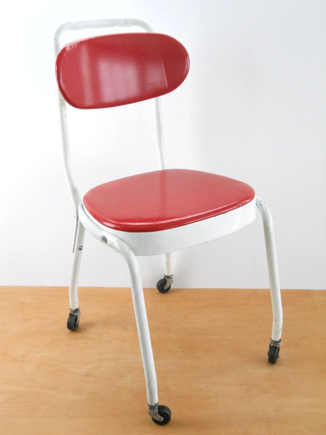 White Rolling Chair Vintage Rolling Maytag Mangle Chair 1960s Red And White