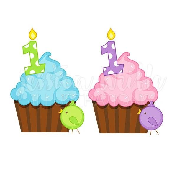 birthday cupcake cute digital