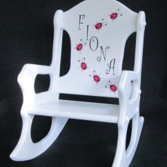 Personalized Rocking Chair For Toddlers Navy Upholstered Toddler Ladybugs