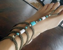 Gladiator Barefoot Sandals Turquoise Earth