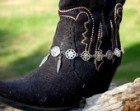 Native American Inspired Boot Bling, Native American Inspired Boot Jewelry, Star Sun Boot Jewelry, Native Inspired Boot Jewelry Western Wear