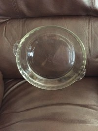Vintage FLUTED Clear Pyrex 10 inch Pie Plate HTF Size Spring