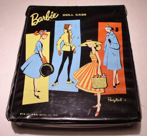 1961 Barbie Ponytail Doll Case Black