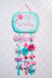 bow holder hair personalized