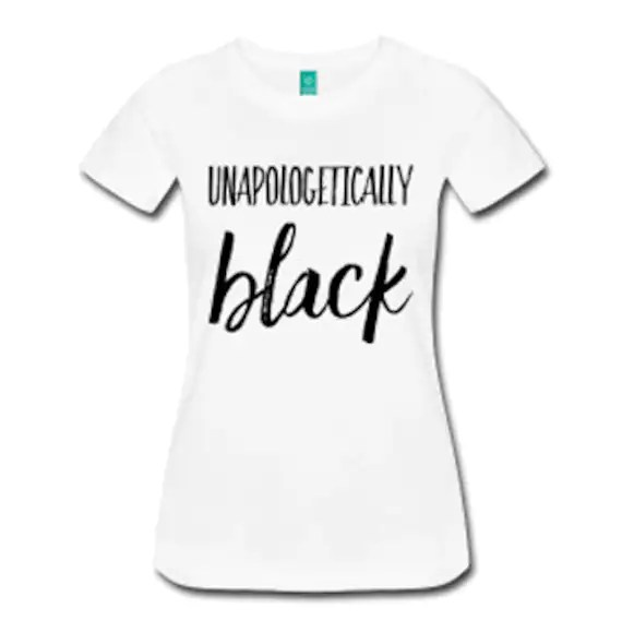 Unapologetically Black Fitted T-Shirt White