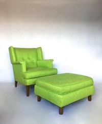 Vintage Edward Wormley Dunbar Wing Back Lounge Chair ...