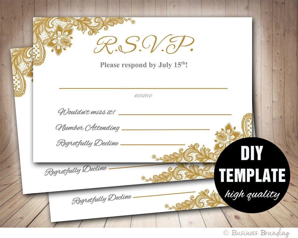 wedding rsvp template free