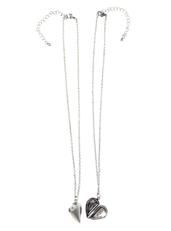 Half Heart Locket Necklace Best Friend Necklace Set By Cetro