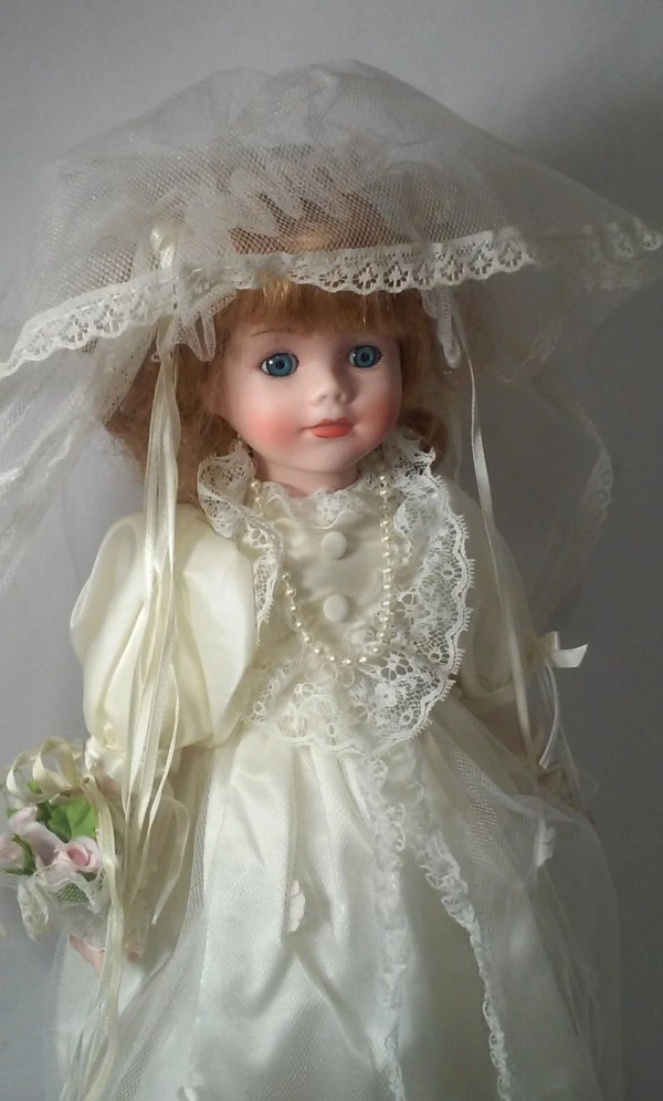 Haunted Porcelain 16 Bride Doll Victorian Protection