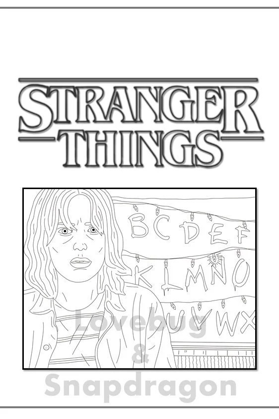 Stranger Things Coloring Book // Instant Printable Digital