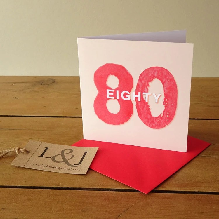 80th Birthday 80th Birthday Gift Happy 80th Grandma Card