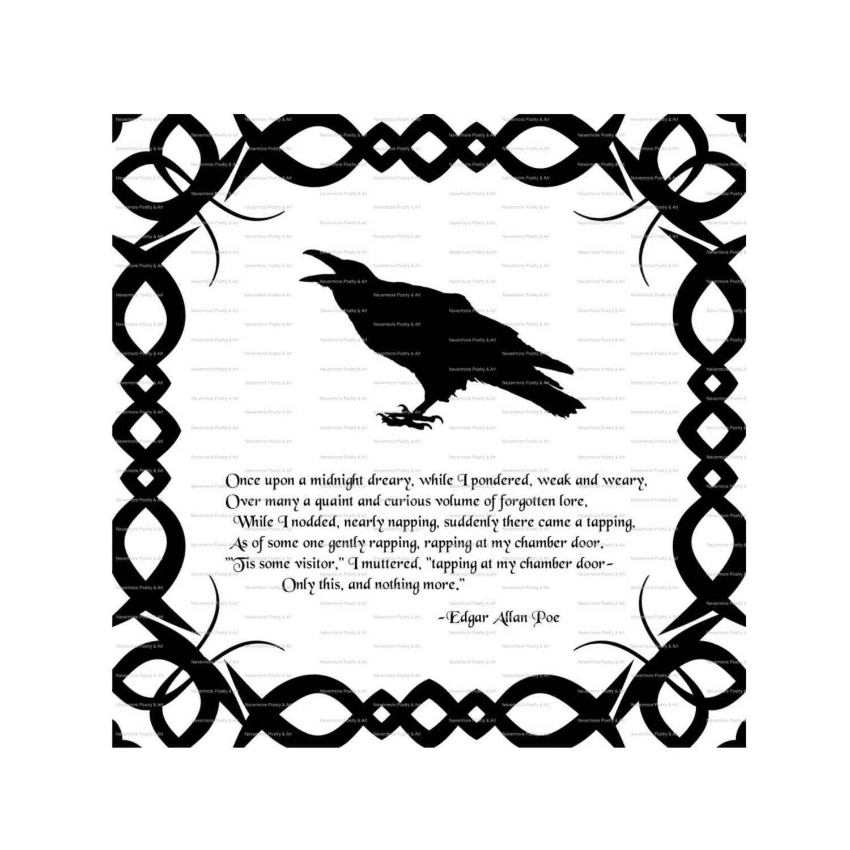 Raven Printable Iron On Fabric Transfer by nevermorealteredart