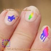polo pony nail art rainbow colours