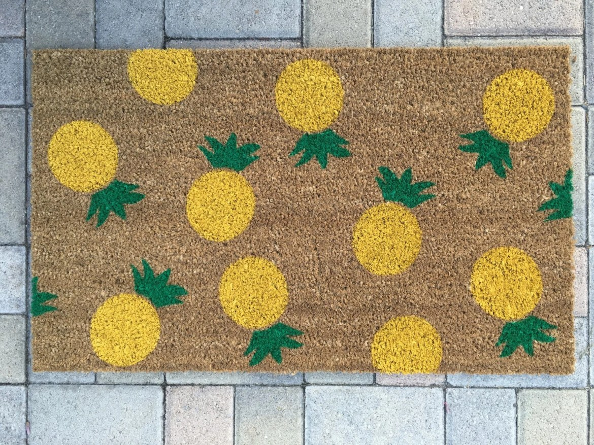 Pineapple Doormat by NickelDesignsShop