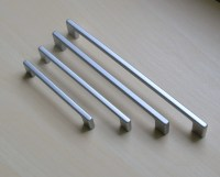 Modern Silver Cabinet Pull. Chrome Mat Cabinet Hardware ...