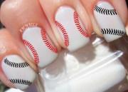 baseball stitches nail decals