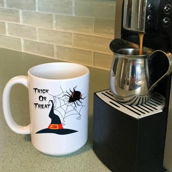 Trick or Treat Mugs Halloween Coffee Mugs Halloween