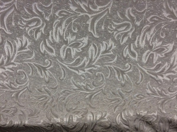 Antique Silver matelasse Jaquard Fabric By the yard ...