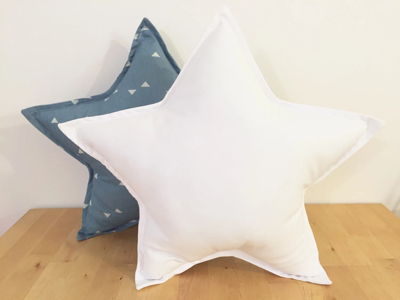 Star Pillow Set Grey And Blue Navy Star Pillow Set Grey