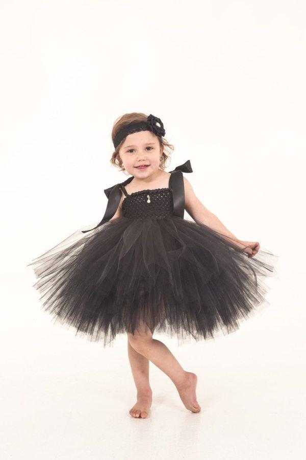 Audrey Hepburn Inspired Tutu Girls Dress Little Black