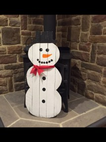 Snowman Pallet Decoration Winter Holiday Rustic