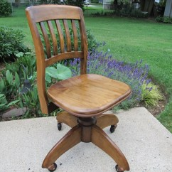 Wh Gunlocke Chair Cover Rentals Albany Ga Vintage Office W H Secretary Bankers