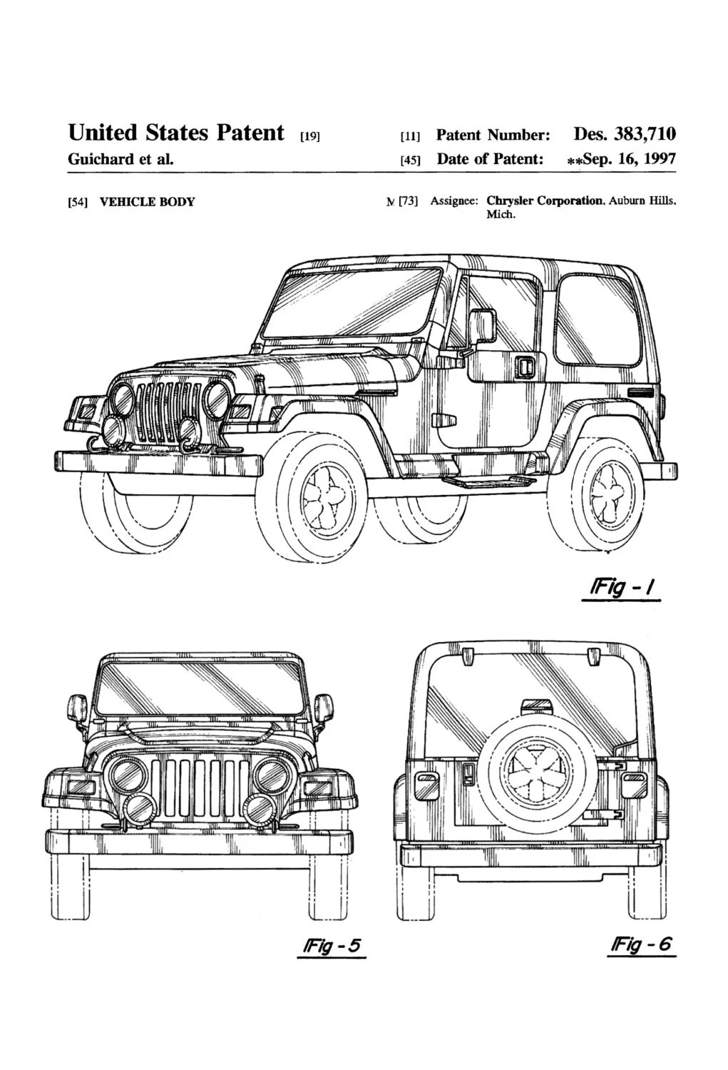 Jeep Wrangler Patent Patent Print Wall Decor by